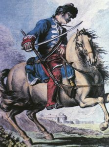 Horse Grenadier of the Maison du Roi: Battle of Dettingen fought on 27th June 1743 in the War of the Austrian Succession
