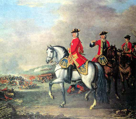 King George II at the Battle of Dettington