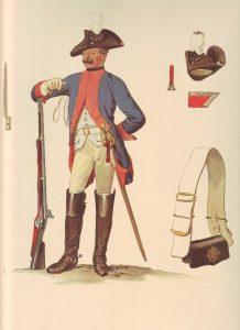 Prussian Dragoner-Regiment von Meinicke No 3: picture by Adolph Menzel as part of his series of pictures 'Die Armee Friedrichs des Grossen in ihrer Uniformierung'