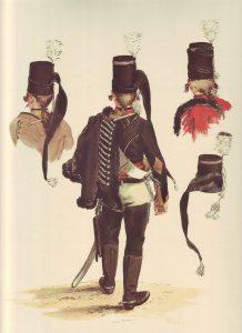 Prussian Husaren-Regiment von Ruesch No 5: picture by Adolph Menzel as part of his series of pictures 'Die Armee Friedrichs des Grossen in ihrer Uniformierung'