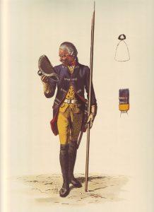Prussian Infantry Regiment von Pannwitz No 10: picture by Adolph Menzel as part of his series of pictures 'Die Armee Friedrichs des Grossen in ihrer Uniformierung'