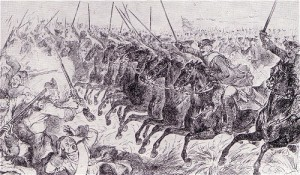 The charge of the Bayreuth Dragoons