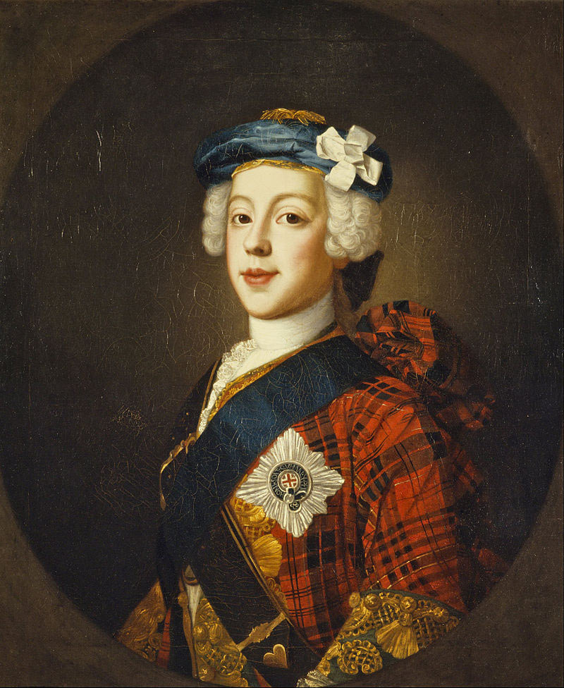 Prince Charles Edward Stuart: picture by William Mosman: click here to buy this picture