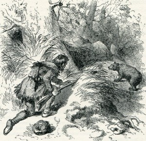 Bear hunting during General Braddock's advance to the Monongahela in 1755