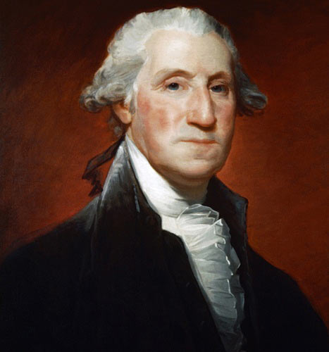 George Washington in later life: picture by Gilbert Stuart: click here to buy this picture