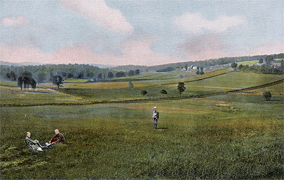 Great Meadows and the site of Fort Necessity at a later date