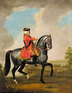 King George II at the Battle of Dettingen in 1743: picture by David Morier
