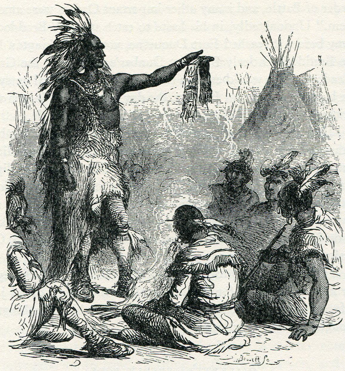 Native Americans in camp at Fort Cumberland in 1755