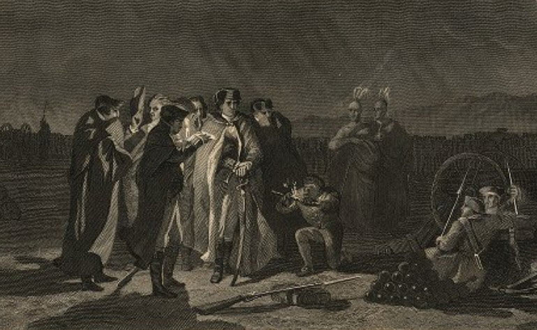 The night conference at Fort Necessity on 3rd July 1754