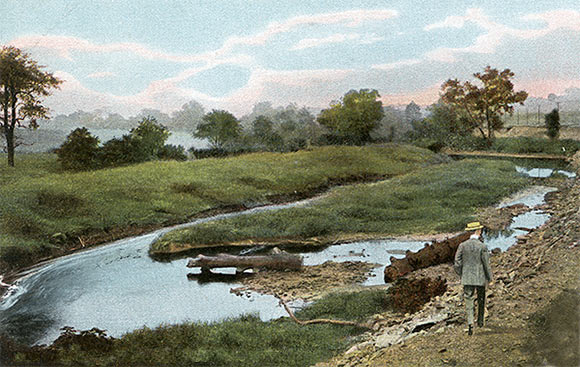 The Ford on Great Sewickley Creek, that the army crossed on 4th July 1755, in later days