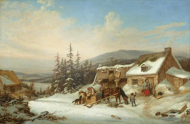 Canadian Habitant's Farm: picture by Cornelius Krieghoff: click here to buy this picture