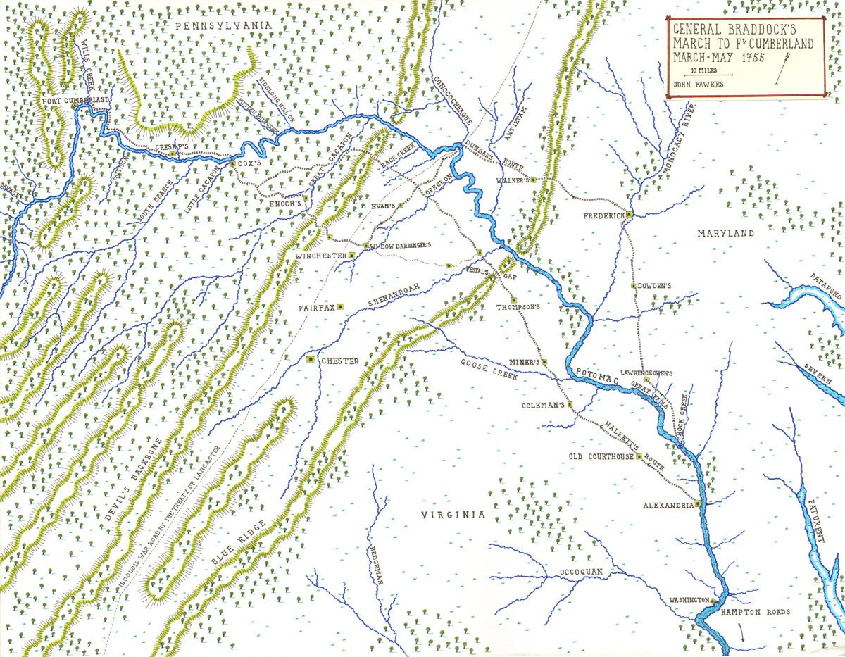 General Braddock's March