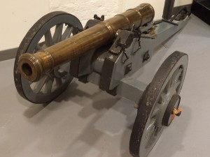 6 pounder field gun, the calibre of gun mainly used by General Braddock's army in the march to the Monongahela in 1755