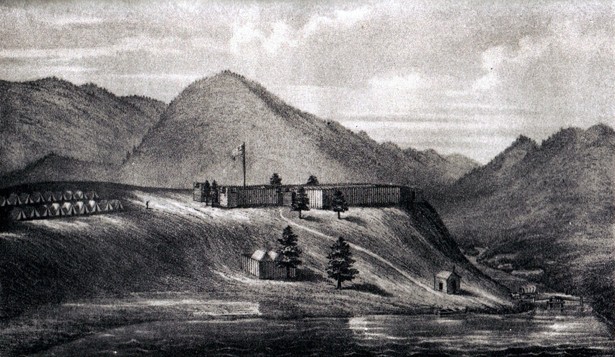 Fort Cumberland in 1755