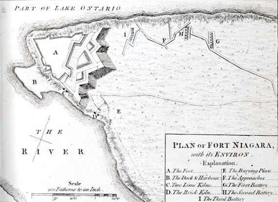 Plan of Fort Niagara on Lake Erie