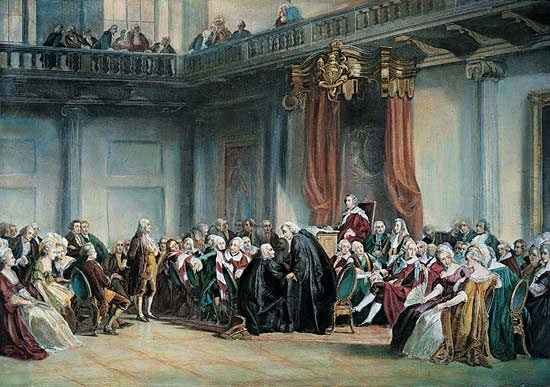 Meeting of the Privy Council in 1774