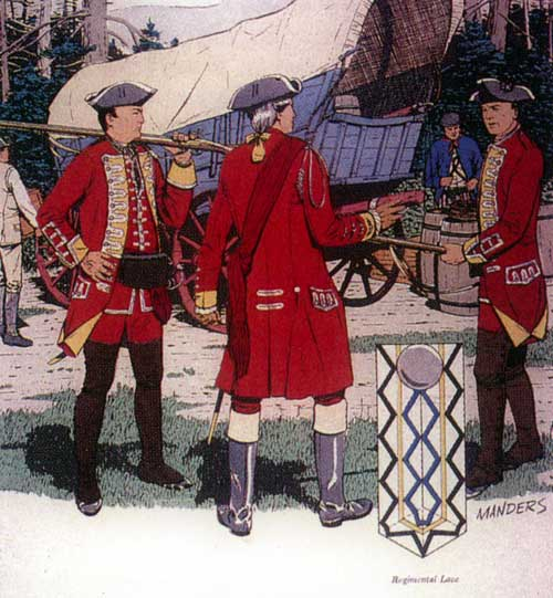 Sir Peter Halkett's 44th Regiment of Foot: one of General Braddock's two regiments of foot on his march to the Monongahela in 1755