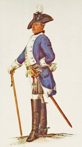Prussian Dragoner-Regiment von Schorlemer No 6: picture by Adolph Menzel as part of his series of pictures 'Die Armee Friedrichs des Grossen in ihrer Uniformierung'