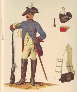 Prussian Dragoner-Regiment von Plettenberg No 8: picture by Adolph Menzel as part of his series of pictures 'Die Armee Friedrichs des Grossen in ihrer Uniformierung'