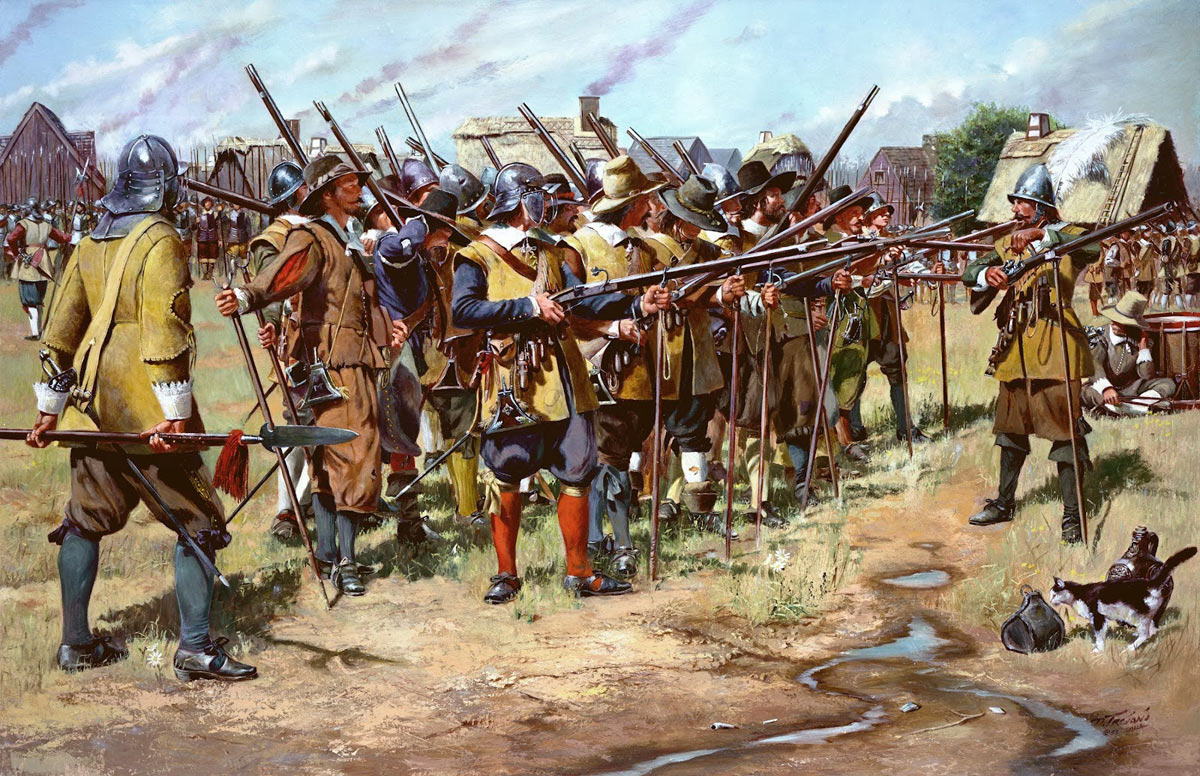 Musketeers of the period of the English Civil War: Battle of Stratton