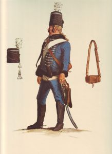 Prussian Husaren-Regiment von Malachowski No 7: picture by Adolph Menzel as part of his series of pictures 'Die Armee Friedrichs des Grossen in ihrer Uniformierung'
