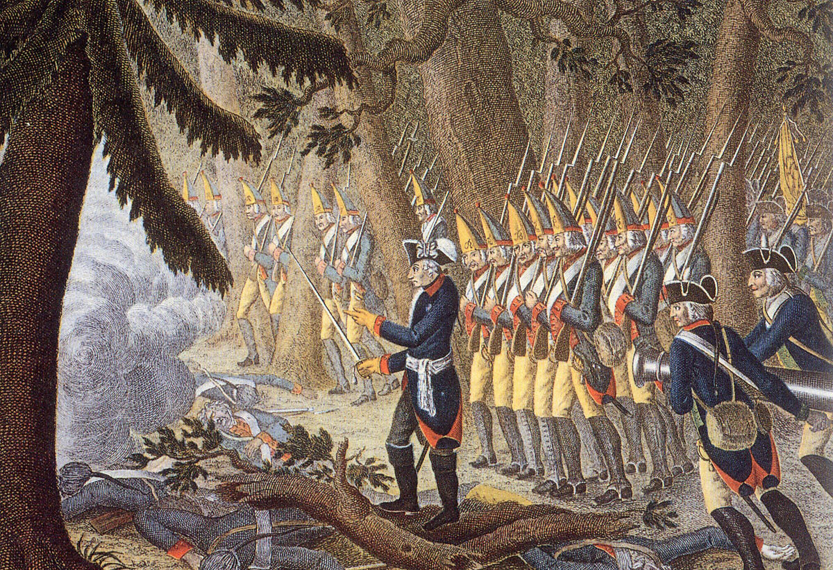 Frederick the Great leads his Grenadier Battalions to the attack at the Battle of Torgau on 3rd November 1760