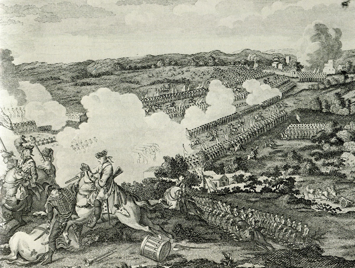 English Engraving of the Prussian attack at the Battle of Leuthen 5th December 1757