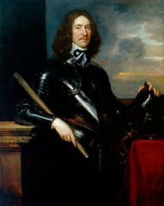 Sir Arthur Hesilrige whose cuirassiers were routed by Lord Wilmot's Royalist brigade of horse at the Battle of Roundway Down on 13th July 1643