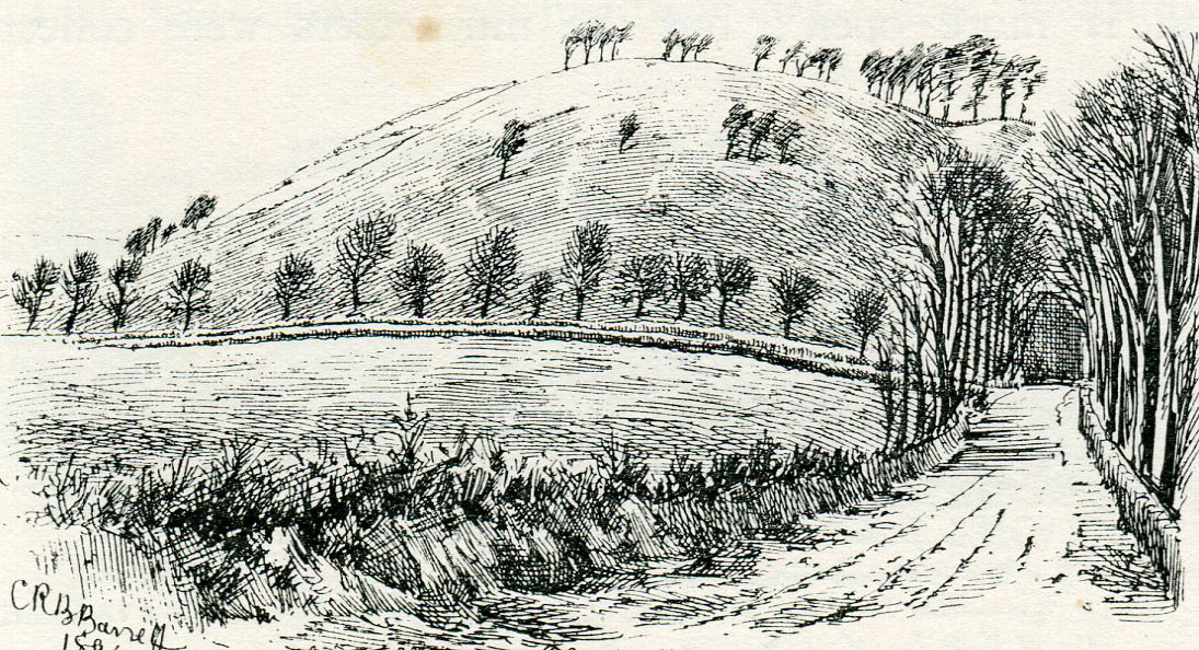 Tog Hill: the Battle of Lansdown Hill on 5th July 1643 during the English Civil War: sketch by C.R.B. Barrett
