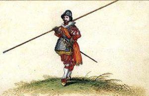 Pikeman of the English Civil War period