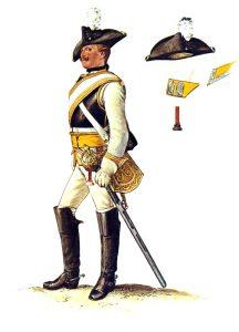 Prussian Kürassier-Regiment von Driesen No 7: picture by Adolph Menzel as part of his series of pictures 'Die Armee Friedrichs des Grossen in ihrer Uniformierung'