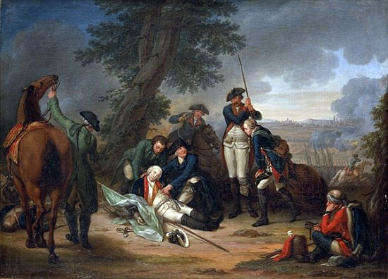 The Death of Field Marshal Schwerin at the Battle of Prague