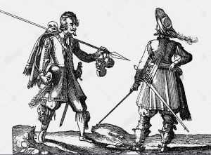 Infantry soldiers of the English Civil War: Battle of Stratton 16th May 1643 during the English Civil War
