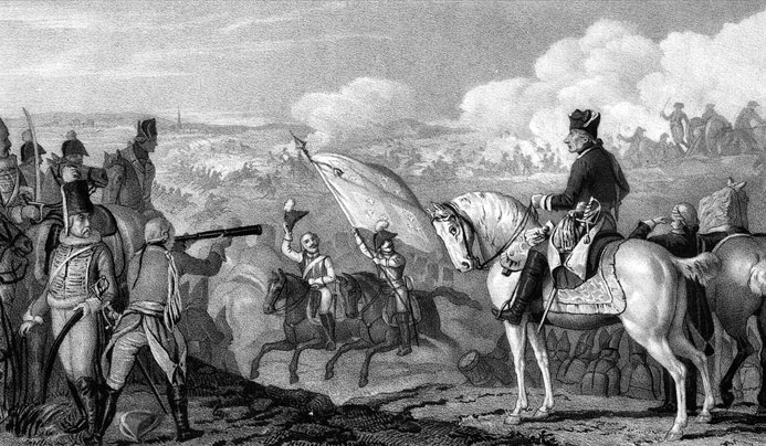 Frederick the Great at the Battle of Rossbach