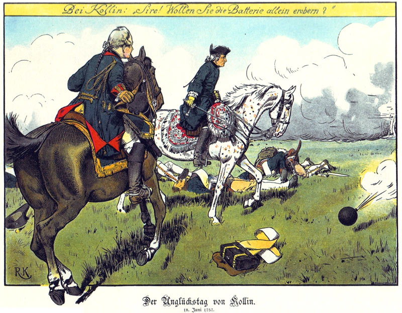 King Frederick II of Prussia at the Battle of Kolin