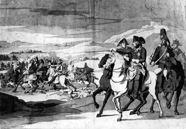 King Frederick II of Prussia at the Battle of Rossbach