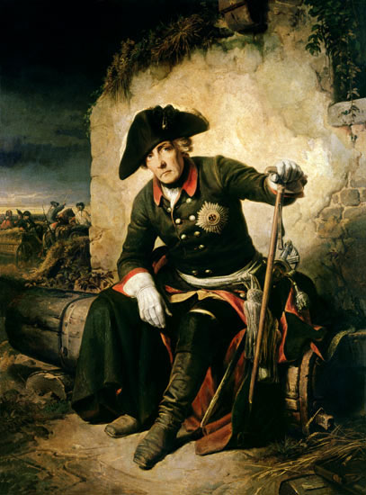 Frederick the Great after the Battle of Kolin