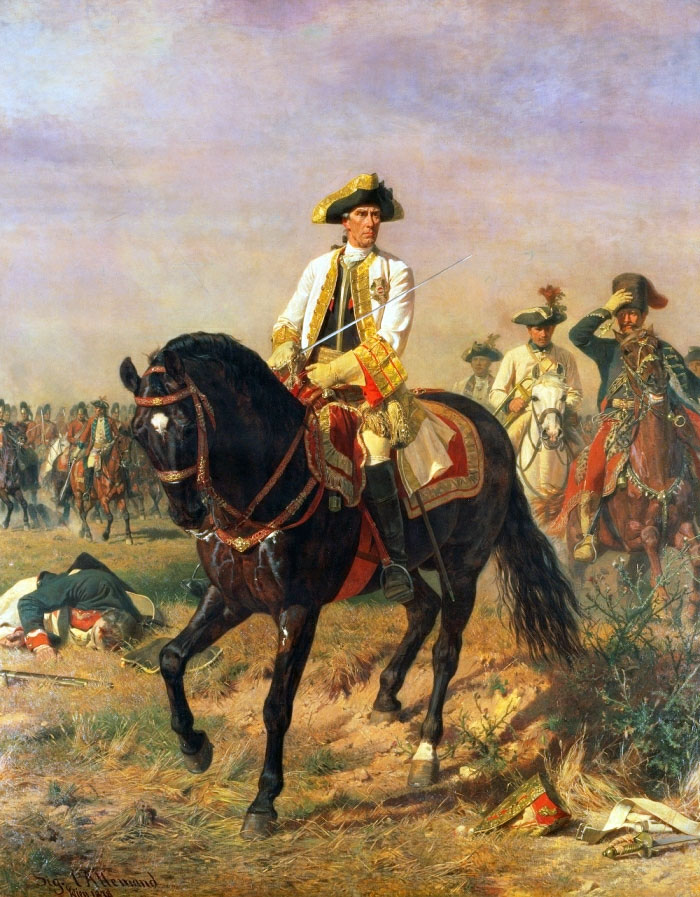The Austrian commander, General Loudon, at the Battle of Kunersdorf
