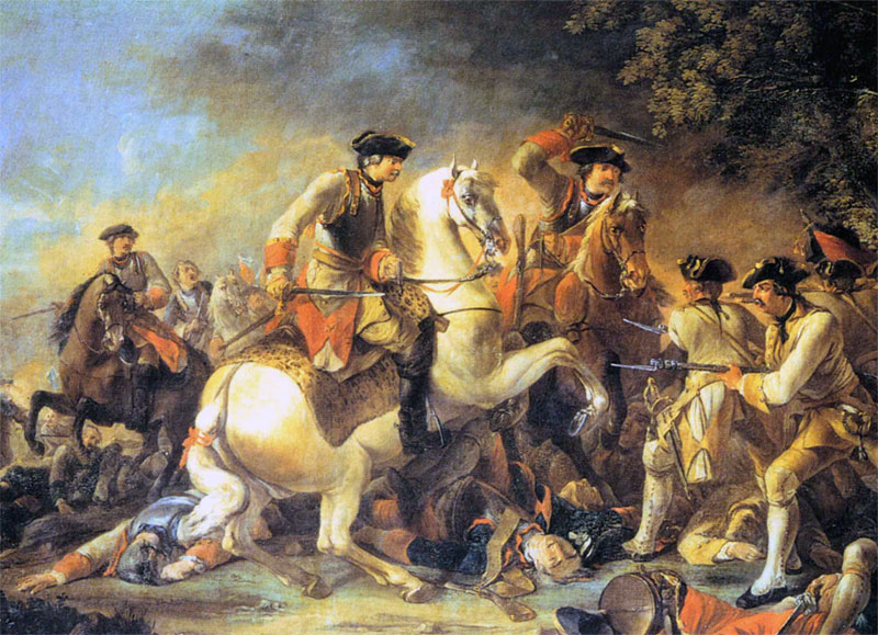 The attack of General von Krosigk's Prussian cavalry brigade