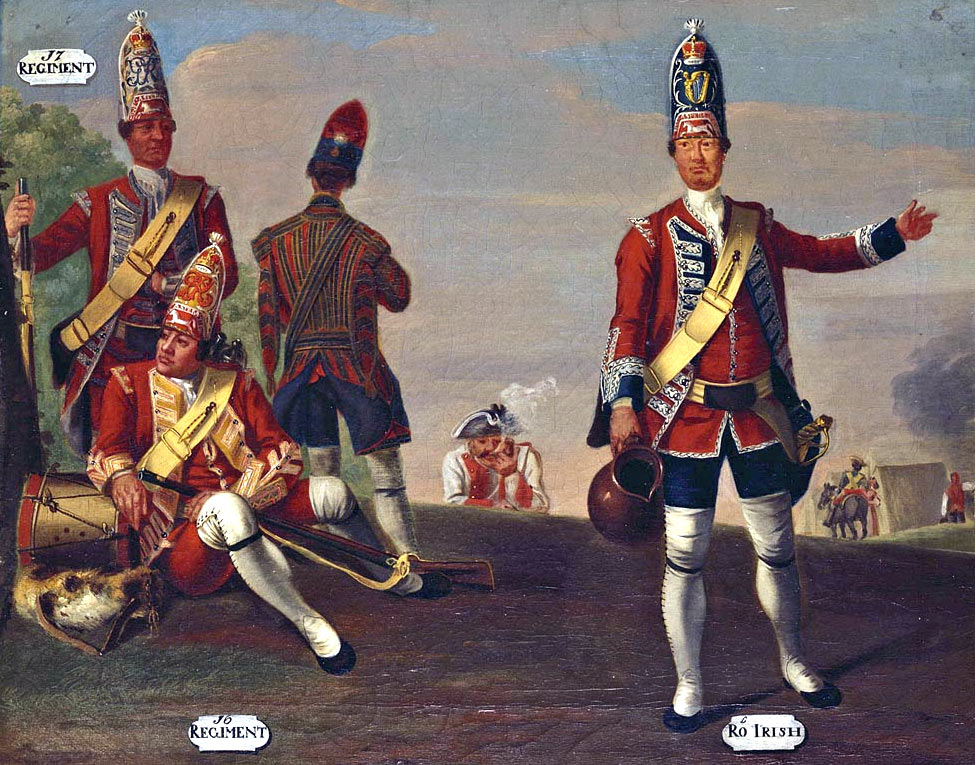 Grenadiers of English regiments