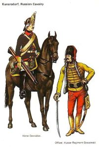 Russian Horse Grenadier and Hussar Officer