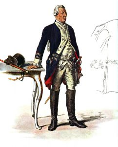 Prussian Infantry Regiment von Itzenplitz No 13: picture by Adolph Menzel as part of his series of pictures 'Die Armee Friedrichs des Grossen in ihrer Uniformierung'