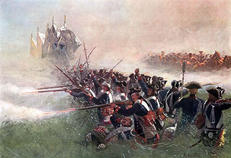 The Prussian Foot Guards at the Battle of Kolin