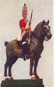 Royal Scots Greys 1759: Battle of Minden 1st August 1759 in the Seven Years War: statuette by Pilkington Jackson