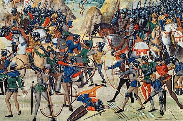 Battle of Agincourt on 25th October 1415 in the Hundred Years War