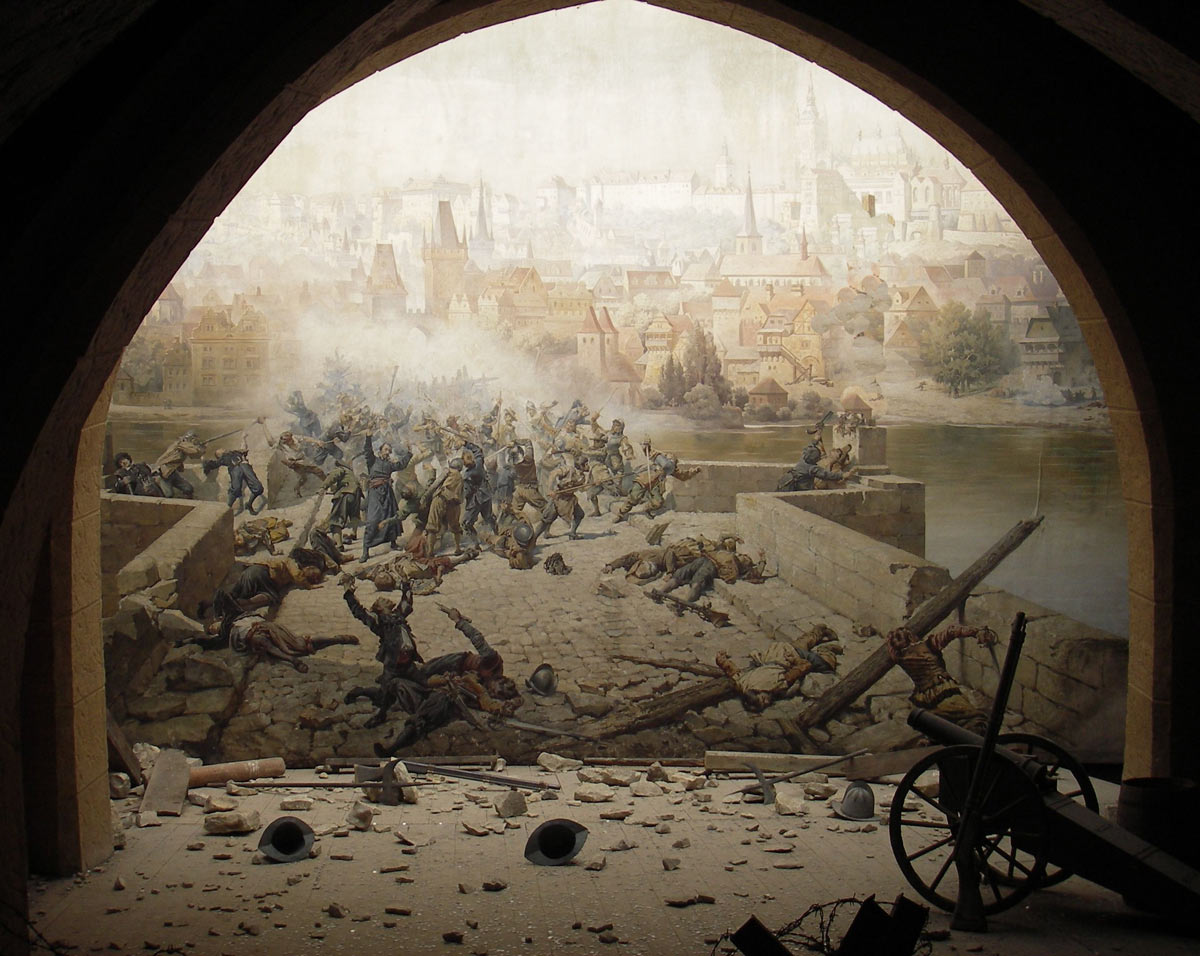 Storming of a gateway at the time of the English Civil War: Storming of Bristol 26th July 1643