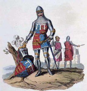 Edward, the Black Prince, commander of the English army at the Battle of Poitiers on 19th September 1356 in the Hundred Years