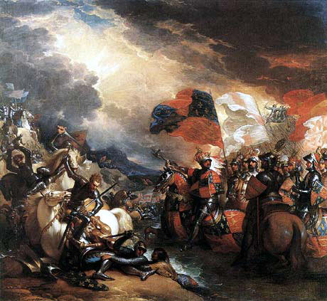 Edward III crossing the Somme before the Battle of Crecy on 26th August 1346 by Benjamin West