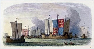 The Battle of Sluys For more details on a picture and how to buy it, click on the image.