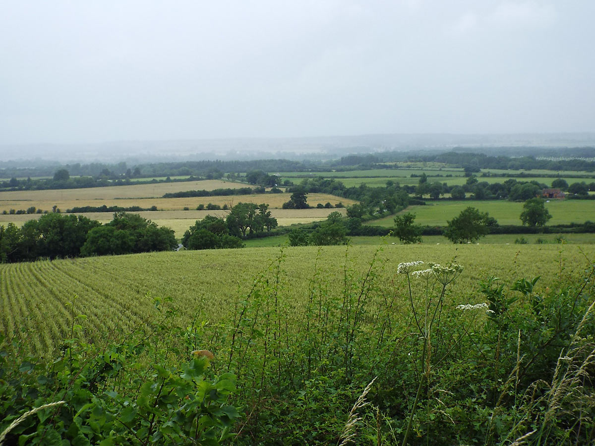 The site of the Battle of Edgehill on 23rd October 1642 in the English Civil War